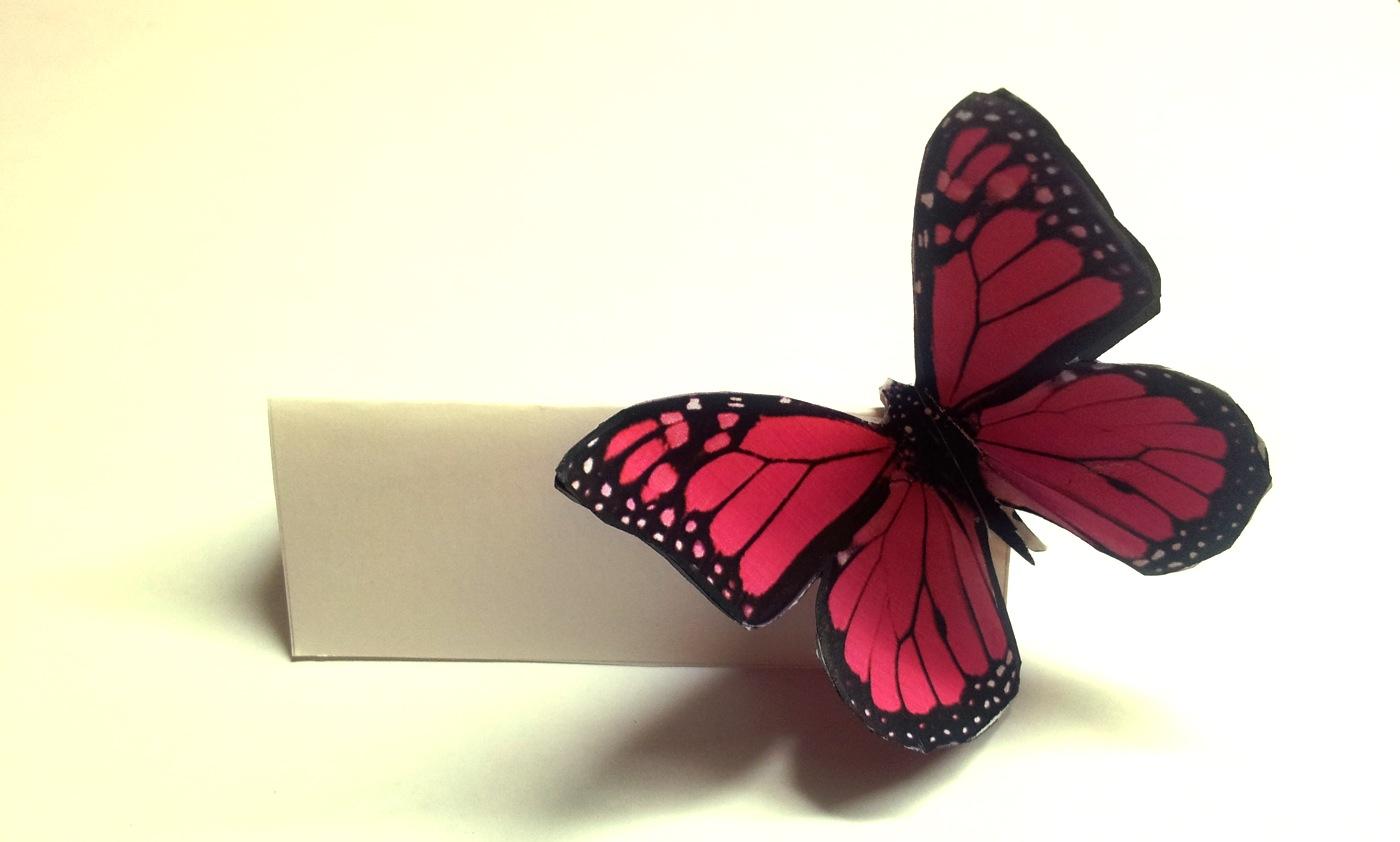 Matrimonio Tema Farfalla : Segnaposto farfalla appunti di matrimonio