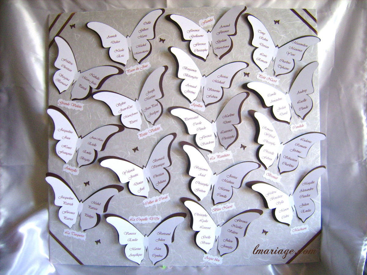 Amato tableau de mariage farfalle | Appunti di Matrimonio EX22