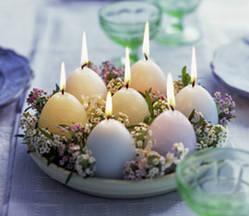 decoração pascoa ovos