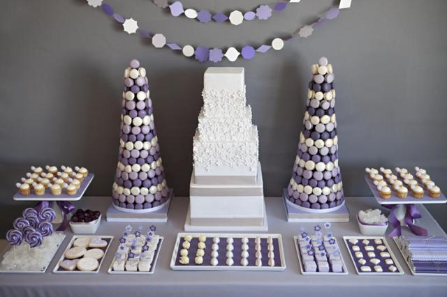 purple-white-gray-dessert-candy-buffet-display