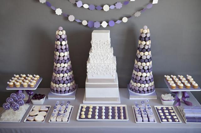 purple-white-gray-dessert-candy-buffet-display