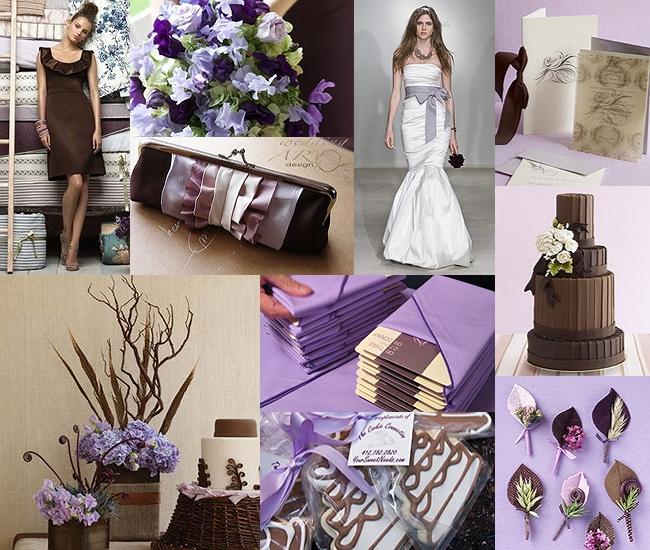 Chocolate-Brown-and-Lilac-Purple-Wedding