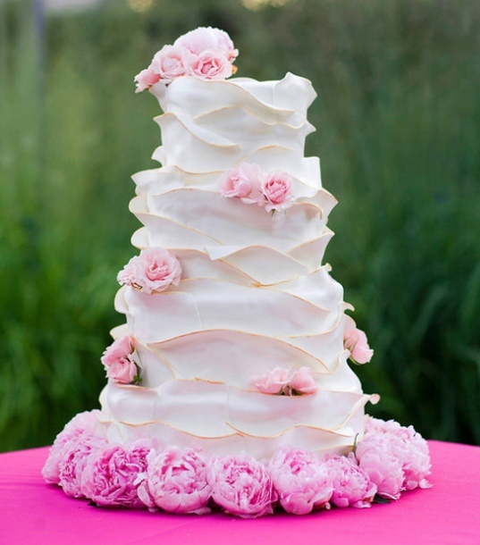 Unique-pink-wedding-cake